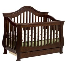 Million Dollar Baby Classic Ashbury 4-in-1 Convertible Crib with Toddler Rail - Espresso