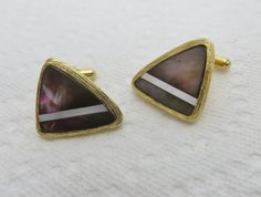 Vintage Cufflinks Mother of Pearl Cuff Links by LadyandLibrarian, $51.00 #vintage #cufflinks #ladyandlibrarian