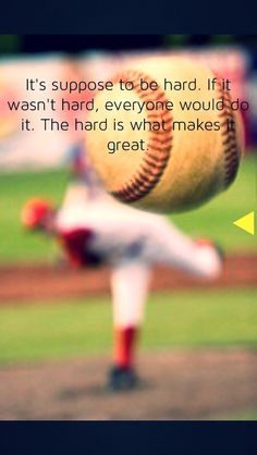 Do you ask why baseball that has people so popular? This article gives you need regarding baseball. If you're the baseball manager and you see that your team is not doing well at practice, you may want to change things up. Boy Quotes, Sport Quotes, Baseball Boys, Baseball Stuff, Baseball Sayings, Baseball League, Softball Stuff, Baseball Crafts, Baseball Pictures