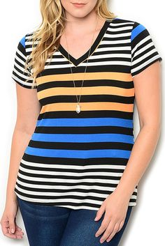 http://www.dhstyles.com/Black-Blue-Plus-Size-Trendy-Fitted-Color-Blocked-V-p/zeno-7042x-black-blue.htm