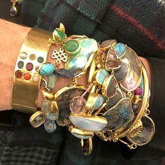 A wristful of gems #PippaSmall #PippaSmallJewellery #EthicalJewellery #EthicallyMade #LessonsInLayering