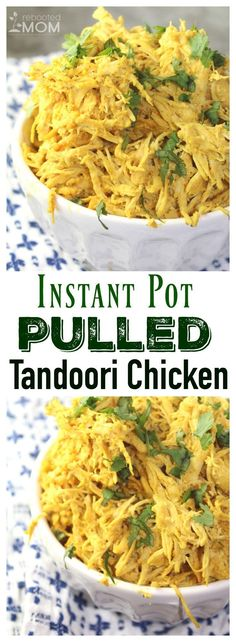 Frozen chicken transformed into saucy, pulled, Tandoori Chicken bathed in a mixture of delicious spices, and garnished with cilantro. It's wonderful served over rice and is incredibly easy to make!