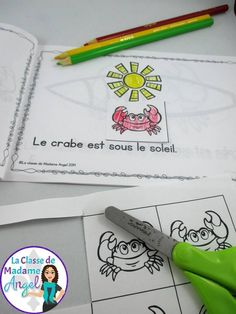 Fun emergent reader for summertime! Students can practice… French Teacher, Teaching French, French Prepositions, French Summer, Core French, French Classroom, French Resources, Ways Of Learning, French Immersion