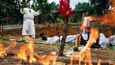 Exorcism Ritual Performed By A Spiritual Healer In Colombia Stock Pictures, Royalty-free Photos & Images