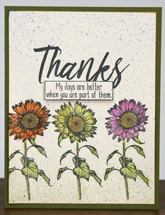 Sunflowers Stamping - Club Scrap | Sunflowers Greeting UM stamp sheet
