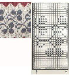 Knitting: Jacquard or Fair Isle Knitting: Jacquard or Fair Isle. Jacquard or Fair Isle Punto Fair Isle, Motif Fair Isle, Fair Isle Chart, Fair Isle Pattern, Fair Isle Knitting Patterns, Knitting Charts, Knitting Stitches, Knit Patterns, Stitch Patterns