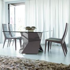 SAPPHIRE DINING TABLE - Gray | Home Design HD