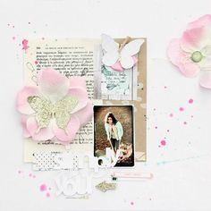 #papercraft #scrapbook #layout.  Catherine Avril Brancieq for Scrapidees