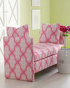 """""""Rowan"""" Bench by Lilly Pulitzer Home at Neiman Marcus."""