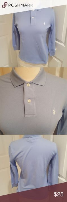 Ralph Lauren Golf Polo in size small petite Authentic Ralph Lauren Golf Polo  in size small petite. Pretty light blue with white polo logo. 2a8f266a1948a