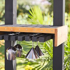 Upgrade your patio kitchen or bar with a DIY wine rack. Click for project materials and instructions.