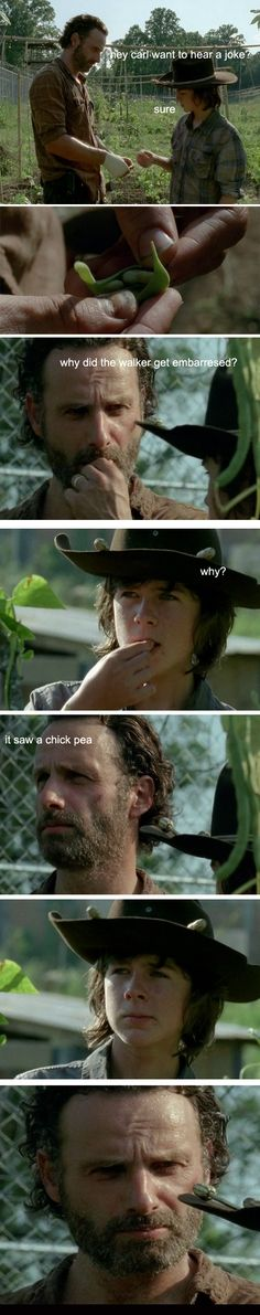 walking dead carl and rick