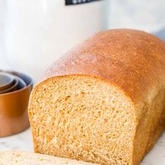 This Whole Wheat Bread is made with whole wheat flour and your favorite natural sweetener. A soft and fluffy sandwich bread that stays fresh for days! Sandwich Bread Recipes, Homemade Sandwich, Wheat Bread Recipe, Brown Bread, White Bread, Bread Baking, Keto Bread, Sourdough Bread, How To Make Bread