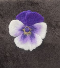 A Colourful Pansy Brooch...Needle Felted Flower..