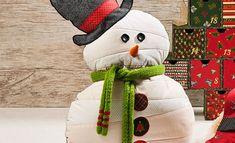 Almofada de Boneco de Neve – Tecido Patchwork