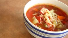 Easy as 3 sticks celery, 2 carrots, 1 red capsicum and you have yourself an easy vegetable soup recipe! Gluten Free Cooking, Cooking Recipes, Easy Vegetable Soup, Curry, Dinner Recipes, Vegetables, Simple, Ethnic Recipes, Food