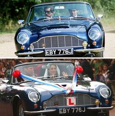 The Aston MartinWill and Kate drove from Buckingham Palace on their wedding day actually belongs to William's father, the Prince of Wales. Queen Elizabeth II gave the car to Charles on his 21st birthday in 1969. True to Charles's environmental concerns, the car has been converted to run on bioethanol fuel made from British wines.