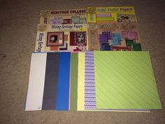 "Large lot of 12"" x 12"" Scrapbooking Paper : Approximately 200 sheets"