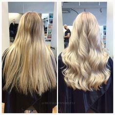 Härliga vågor och ett blont fräscht hår!  #blondegirl #softcurls #kerastase