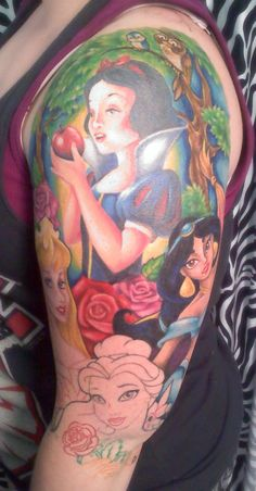 disney tattoo sleeve tattoo