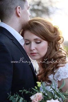 Perlenband, Haarband, Haardraht mit Röschen | Braut-Frisur ...