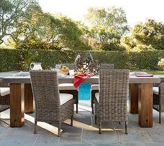 Abbott Chunky Leg Rectangular Dining Table #potterybarn