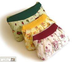 Three zippered PDF pouches sewing pattern from napkittenpattern by DaWanda.com