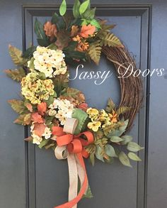 A personal favorite from my Etsy shop https://www.etsy.com/listing/541859254/fall-wreath-fall-grapevine-wreath