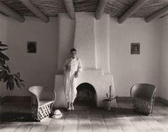 Elliott McDowell, [woman in Southwestern style living room] Miss Kerr, Santa Fe, 1977