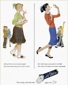 Vintage messages: To push their products, advertisements from the Fifties and Sixties simultaneously created and reinforced gender stereotypes, depicting women as brainless beauties and kitchen-dwellers who, most of the time, need help looking slimmer