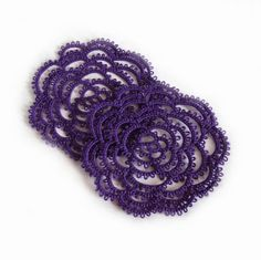 Gothic Purple Rose Coasters  Set Of Two  Rosa by TataniaRosa, $13.00