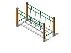 Our wooden trim trail equipment, rope bridge, is designed to mix with other items to create challenging circuits and courses.