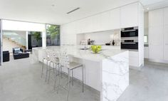 Stain-proof alternatives to marble: Dekton & Neolith! Neolith Calacatta looks amazing, and similar to Shadowstorm.