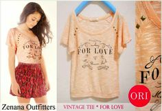 let's shop here : ZENANA OUTFITTERS vintage top - for love * ORI