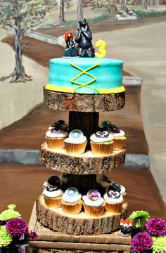 Cupcake Tower at a Brave Party #braveparty #cupcaketower