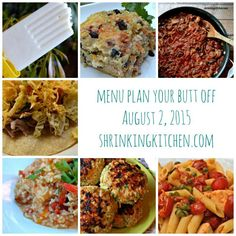 Menu planning is the first step to a healthier lifestyle! Simplify by using our free, weekly menu plan, Menu Plan Your Butt Off! It's free & delicious!