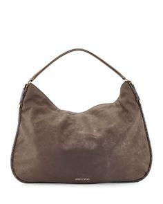 3c15ca7df5 Zoe Medium Metallic Suede Hobo Bag