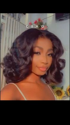 Black Girl Prom Hairstyles, Wedding Hairstyles For Girls, Baddie Hairstyles, Homecoming Hairstyles, Easy Hairstyles, Curly Hair Styles, Natural Hair Styles, Big Curly Hair, Homecoming Hair Down