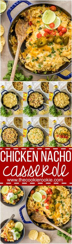 SUPER EASY CHICKEN NACHO CASSEROLE is our favorite Mexican weeknight meal! Throw it together, bake, and enjoy this cheesy, spicy, delicious, EASY Tex Mex meal in just minutes! Layered with chips, chee (Cheese Chicken)