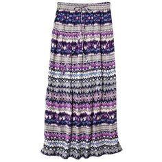 Mossimo Supply Co. Juniors Maxi Skirt Assorted Colors ($5.24) ❤ liked on Polyvore