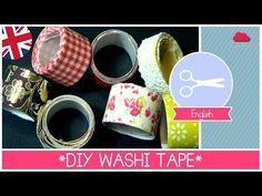 Homemade DIY WASHI TAPE super EASY by ART Tv - YouTube