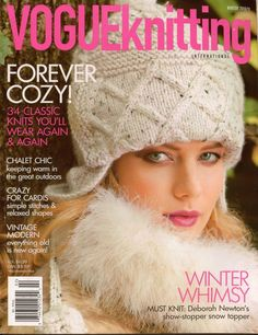 VOGUE KNITTING Winter 2010 Twinkle Coat Dress Knee Socks Cardigan Brioche Scarf  #VogueKnitting #KnittingPatterns