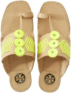 ShopStyle: Tory Burch Caylan Push Toe Slippers