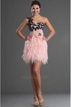 Flor de um ombro Mid Voltar Rosette acentuado vestido Bainha Vestido de noite - Página 1