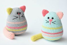 Egg-shaped Cat Free Crochet Softies Amigurumi Pattern