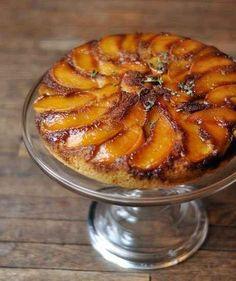 Peach and Cornmeal Upside-Down Cake