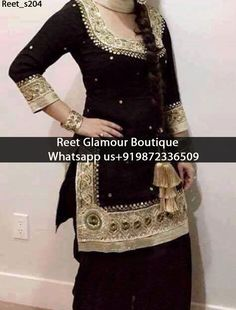 Stunning Black Embroidered Punjabi Suit Product Code : Reet_s204 All colours any stuff can be customise To order, call/whatsapp on +919872336509 It will make you noticable in special gathering. Buy Link : https://www.facebook.com/reetglamourboutique/