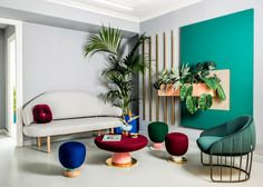 Décor do dia: cores vivas na sala