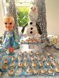 Frozen Birthday Party Decorations and treats!  See more party ideas at CatchMyParty.com!