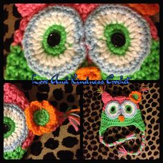 Owl Hat - comes in ALL sizes and colors of your choice - 0-3yrs $13, 4-10yrs $18, and 11yrs+ $23 - $18-$28 shipped in the contiguous US